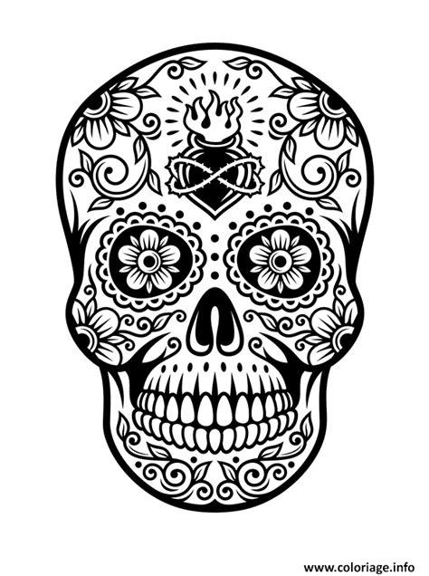 coloriage squelette tete de mort jecolorie