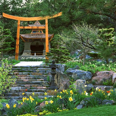 Japanese Garden Landscape Asian With Rock Tabletop