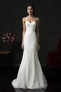 mermaid strapless tulle lace wedding dress court train With strapless tulle wedding dress