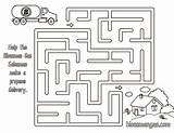Coloring Gas Maze Delivery Blossman Propane Mazes Cyndi Pete Cylinder Corner Salesman sketch template
