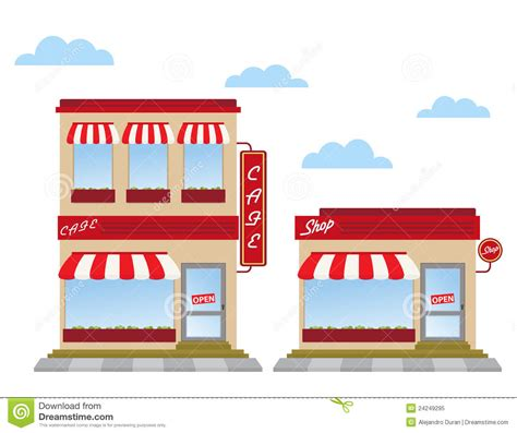 store fronts royalty  stock photo image