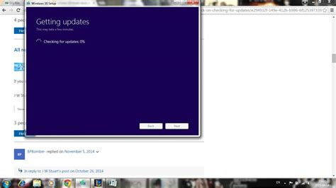 updating to windows 10 stuck at getting updates