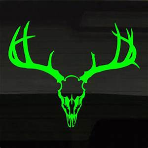 Deer Buck Skull Fluorescent NEON GREEN 16