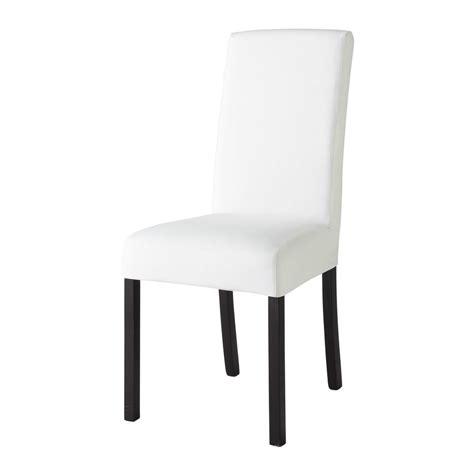 housse de chaise maison du monde housse de chaise en coton ivoire margaux maisons du monde