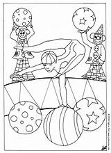 Circus Coloring Pages Acrobat Coloriage Cirque Acrobate Gratuit Un Printable Hellokids Getcolorings sketch template