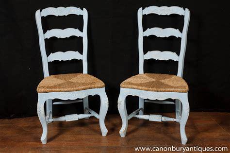 set 8 painted ladderback dining chairs kitchen oak