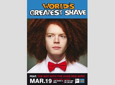 The Red Afro Guy is shaving it for a cure! haters of the