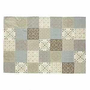 Tapis Vinyl Imitation Carreaux De Ciment : tapis motifs carreaux de ciment 140 x 200 cm provence ~ Zukunftsfamilie.com Idées de Décoration
