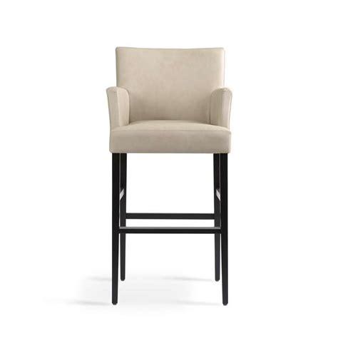 chaise cuisine avec accoudoir tabouret de bar avec accoudoirs en bois et tissu shawn