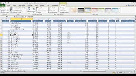 connecting sql tables and data in excel spreadsheets