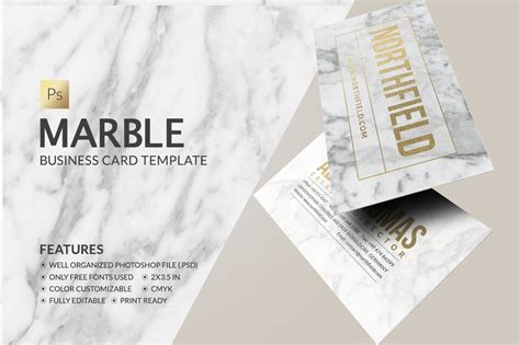 marble business card business card templates creative