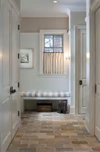 kitchen tiled walls ideas mudroom bench cottage laundry room benjamin