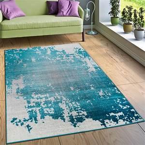 Teppich Läufer Türkis : designer teppich wohnzimmer mit splash muster vintage optik in t rkis wei grau teppiche vintage ~ Whattoseeinmadrid.com Haus und Dekorationen