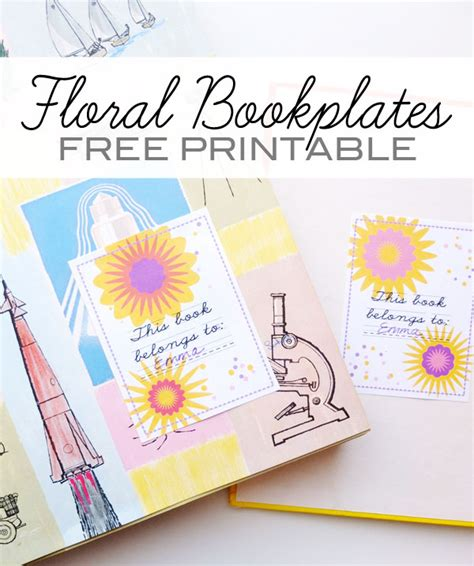 Free Printable  Floral Bookplates  My Poppet Makes