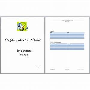 Best photos of manual cover page template employee for Staff training manual template