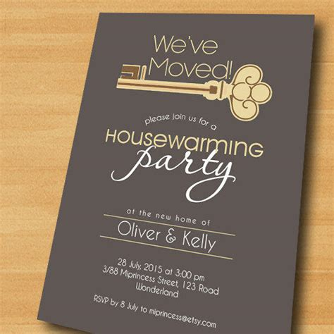 housewarming invitation  house key  miprincess  etsy