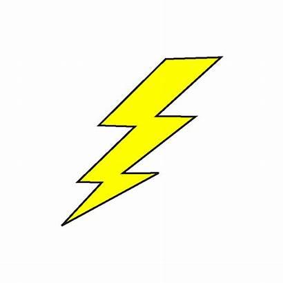 Lightning Bolt Cliparts Icons Transparent Background Thunder