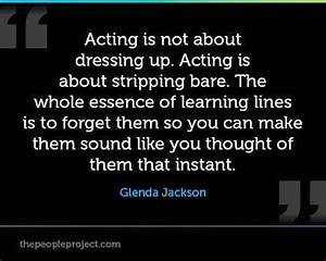 Quotes About Acting On Stage. QuotesGram