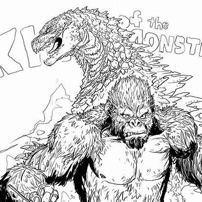 Godzilla Kong King Monsters Drawing Instagram Coloring