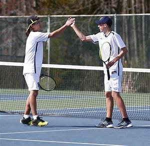 Connor Baechler, Chris Machuzak of Shawnee boys tennis ...