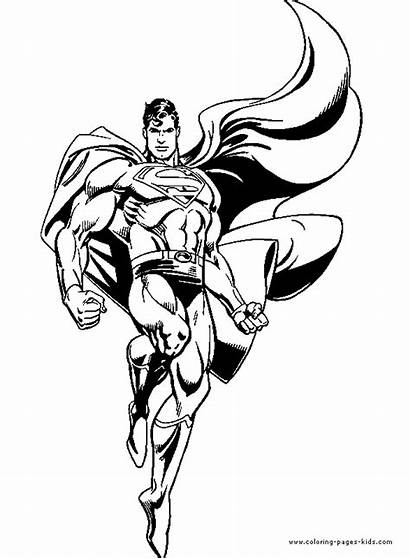 Coloring Pages Cartoon Superman Characters Printable Colouring