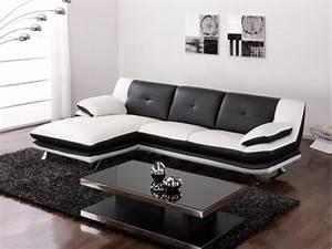 canape d39angle noir et blanc pas cher With canapé d angle blanc pas cher