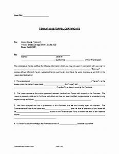tenant certificate fill online printable fillable With estoppel certificate template