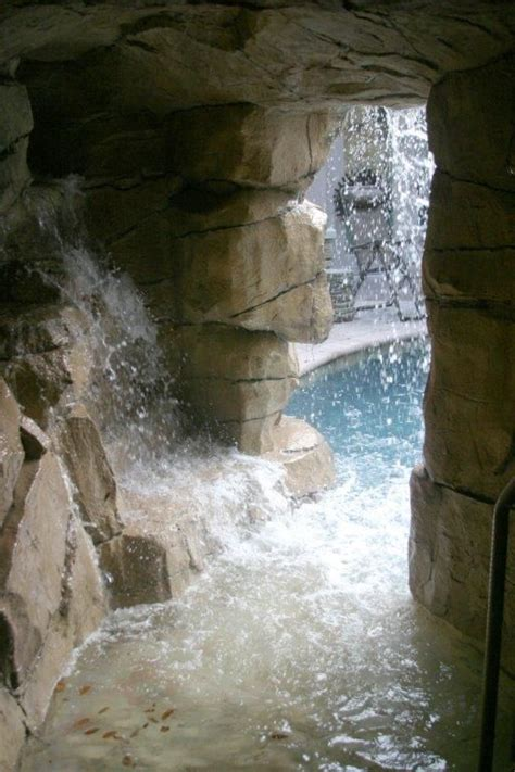 Faux Gratto Spa Cave Real  Faux Rock Waterfalls