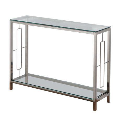 worldwide homefurnishings chromeglass console table