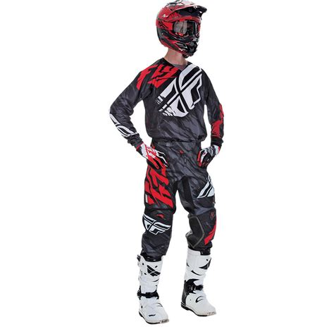 motocross gear for fly racing 2017 mx new kinetic relapse black red jersey