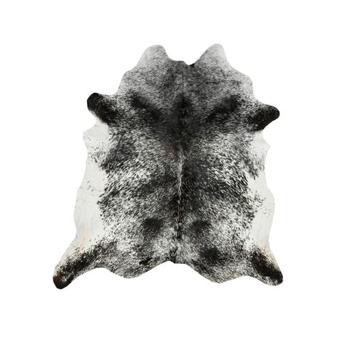 Black Cowhide Rugs by Southwest Rugs Medium Black And White Salt Pepper