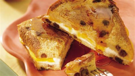 Peach Stuffed Oven French Toast Recipe From Pillsbury