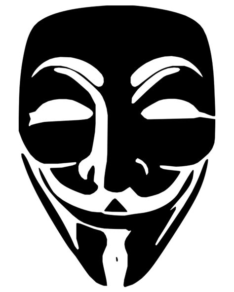 anonymous hackers face mask graphics  transparent