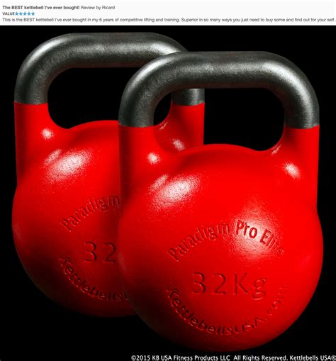 kettlebell lb kettlebells usa paradigm elite pro unbiased kg pair competition choice