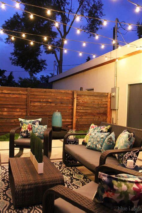 hang patio string lights   ideas string lights outdoor patio string lights