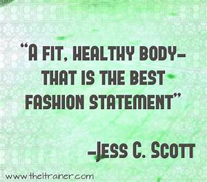 healthy fit body Quotes