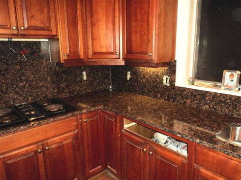 Kitchen Backsplash Ideas With Granite Countertops : Kitchen Granite Counter Tops