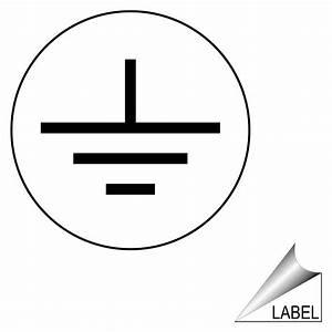 Earth terminal ground symbol label label sym 18 b shock hazard for Ground symbol label