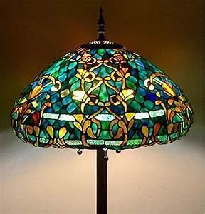 tiffany style stained glass floor lamp quotazure sea With tiffany style stained glass floor lamp granduer w 20 shade