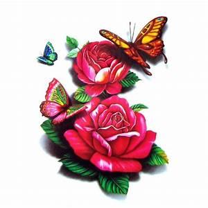Rose En Tatouage : tatouage temporaire rose rouge 3d ~ Farleysfitness.com Idées de Décoration