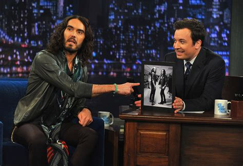 russell brand jimmy fallon russell brand photos photos russell brand visits quot late