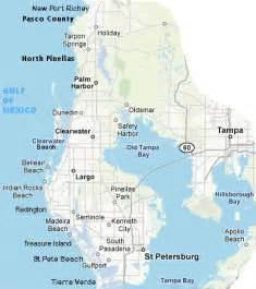 Map of Florida Gulf Coast Tampa Bay