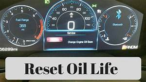 2014 - 2016 Cadillac Cts Oil Life Reset