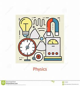 Modern Color Thin Line Concept Of Physics For School ...