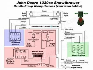 John Deere 1330se Snowblower  U2013 Wiring Harness For The Handle Group