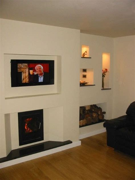 Inset Stove  Tv     Recessed Shelving