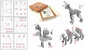 Japan Trend Shop D Torso Chihuahua papercraft kit