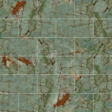 Green onyx marble floor tile texture seamless 14436