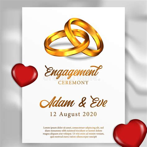Engagement Invitation stock vector Illustration of