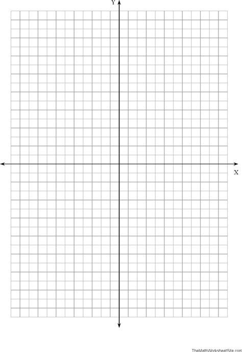 Free Coordinate Plane Graph Paper  Pdf  4kb  1 Page(s